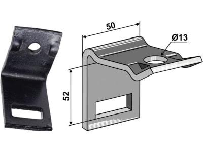"""Industriehof® Zinkenhalter """"D"""" 50 x 6 mm für Federzinken 32 x 12 mm, Passender Rahmen 40 x 40 mm, universal, 1.HH17-3415"""