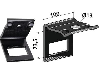 """Industriehof® Zinkenhalter """"D"""" 100 x 10 mm für Köckerling:<br>Allrounder, Federzinken 70 x 12 mm, Passender Rahmen 60 x 60 mm für Köckerling:<br>Allrounder, Federzinken 70 x 12 mm, 1.HH17-3202"""