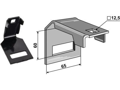 """Industriehof® Zinkenhalter """"A"""" für Federzinken 45 x 10 mm, Passender Rahmen 50 x 50 mm für Dal-Bo, Väderstad, 1.HH998"""
