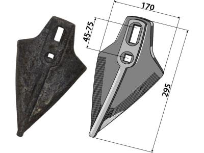 Industriehof® Gänsefußschar 170 x 9 mm für Amazone/BBG, 101.1139A-H