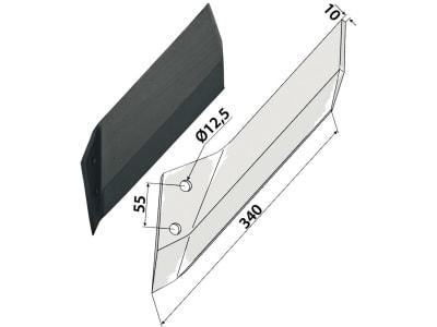 Industriehof® Scharflügel links/rechts 340 mm für Lemken Kristall, Vergl. Nr. 337 4531/337 4530