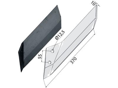 Industriehof® Scharflügel links/rechts 370 mm für Lemken Kristall, Vergl. Nr. 337 4537/337 4536