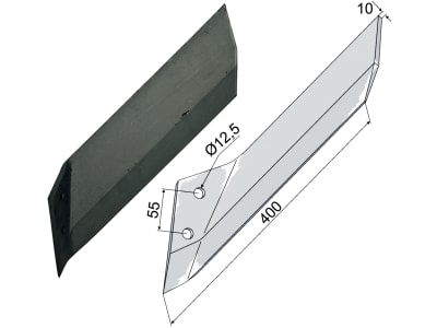 Industriehof® Scharflügel links/rechts 400 mm für Lemken Kristall, Vergl. Nr. 337 4541/337 4540