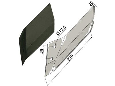 Industriehof® Scharflügel links/rechts 230 mm für Lemken Karat, Vergl. Nr. 337 4461/337 4460