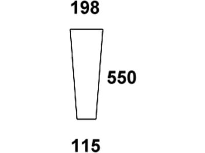 Frontscheibe, klar, unten, für Fendt Farmer 103, 104, 105, 106, 108 S - Kabine Edscha Schwarwächter, Fendt: 258514210010