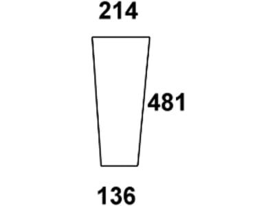 Frontscheibe, klar, unten, für Fendt Farmer 103, 104, 105, 106, 108 S - Kabine Edscha Schwarwächter, Fendt: 258514401100