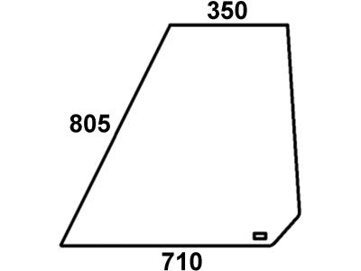 Frontscheibe, klar, links, für Fendt Farmer 102, 103, 104, 105, 106, 108 S-Kabine Peko