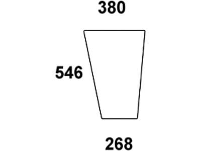 Frontscheibe, grün/klar, unten links/rechts, für Fendt Favorit 610–615