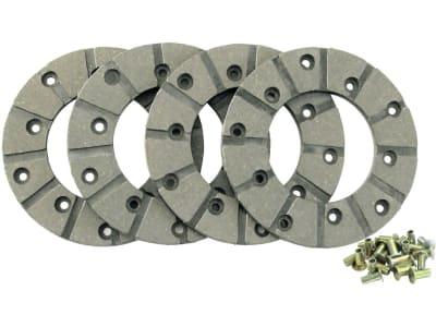 Ringbelagsatz, Ø außen 127 mm x Ø innen 69 mm, Stärke 4,75 mm, Fußbremse, für Case IH, John Deere