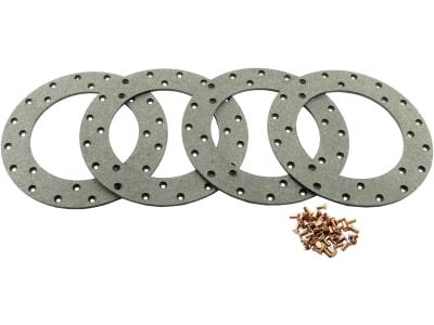 Ringbelagsatz, Ø außen 228 mm x Ø innen 150 mm, Stärke 4,7 mm, Scheibenbremse Traktor D 3006 – D 6907, DX-Serie, Intrac 2002, für Deutz-Fahr