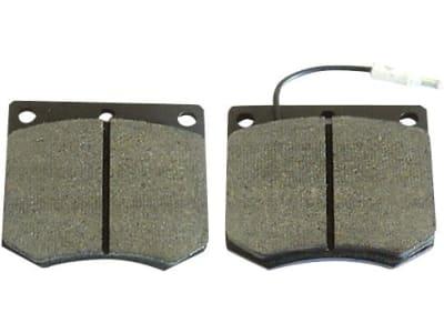 Bremsklotzsatz (2 St.) 78 x 66 x 15 mm, mit Warnkontakt für Case IH, Eicher, Fendt, Schlüter