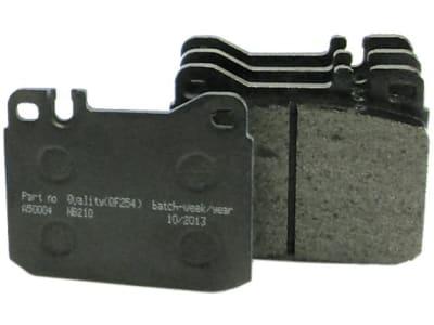 Bremsklotzsatz (4 St.) 90 x 74 x 15 mm, Fußbremse und Kardanwelle, Agrotron 4.70 – 6.45; DX 85 – 120, 4.70 – 6.50, für Deutz-Fahr