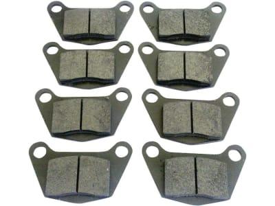 Bremsklotzsatz (8 St.) 155 x 90 x 18 mm, Fußbremse DX 145, DX 6.50, für Deutz-Fahr