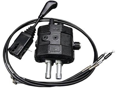 Einhebelsteuerventil dw/dw, 100 l/min, Einhebelsteuerung mit 2 Seilzügen 2.000mm