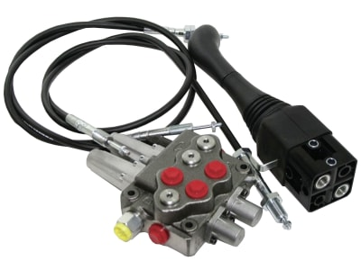 Einhebelsteuerventil dw/ew, 45 l/min, Einhebelsteuerung mit 2 Seilzügen 2.000mm