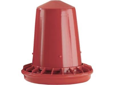 Stükerjürgen Futterautomat 8 – 12 kg Kunststoff rot mit Gewinde, für Hüner und Küken, 21506