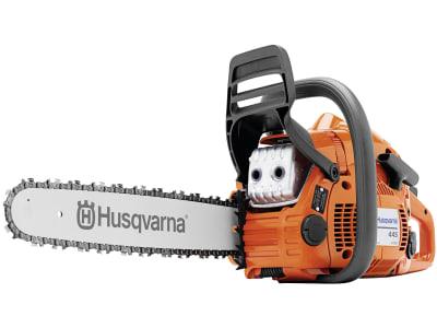 "Husqvarna® Benzin-Kettensäge ""445 Mark II"" 2,1 kW (2,8 PS) Schnittlänge 38 cm, 9671564-35 !!betriebsbereit!!"