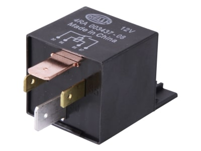 Hella® Relais 12 V, Hochleistungs-Schließer mit Öffner-, Schließerkontakt, mit Halter, 4-polig, Flachsteckanschluss, 4RA 003 437-081