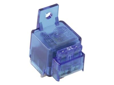 Hella® Relais 12 V, Schließer, mit Halter und Flachsicherungseinsatz 15 A, 4-polig, Flachsteckanschluss, 4RA 003 530-001