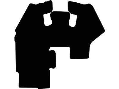 Fußmatte gekettelt, aus Velours, schwarz, für JCB Radlader Serie 400, Tier 4 F, ab Bj. 07.16