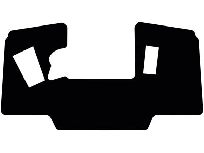 Fußmatte gekettelt, aus Velours, schwarz, mit Aussparung rechts, für Weidemann Lugsteinkabine LK 115-1, mit Aussparung rechts für Gaspedal