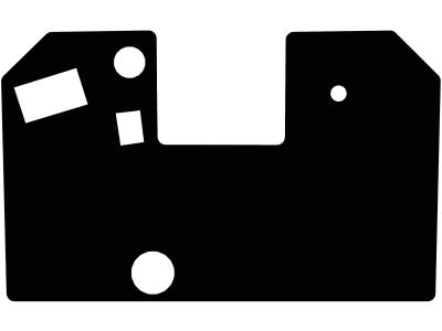 Fußmatte gekettelt, aus Velours, schwarz, für Weidemann Kompaktlader 1506, ab Bj. 00