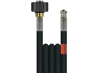 """Rohrreinigungsschlauch """"Flexy"""", NW DN 6, 300 bar, 15 m, Handverschraubung M 22 IG, 1/8"""" AG + O-Ring mit Düse"""