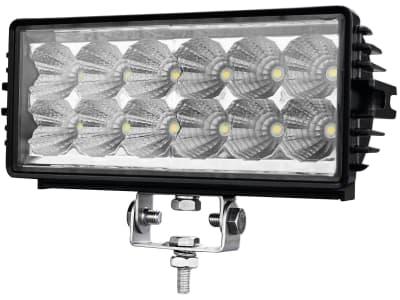 LED-Arbeitsscheinwerfer rechteckig 2.700 lm, 12 – 28 V, 12 LEDs, Funkentstörung Klasse 3