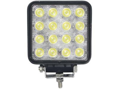 LED-Arbeitsscheinwerfer rechteckig 3.200 lm, 10 – 30 V, 16 LEDs, Funkentstörung Klasse 3