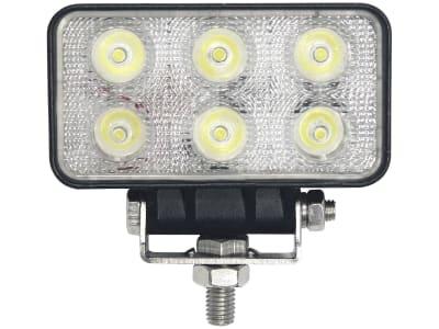 LED-Arbeitsscheinwerfer rechteckig 1.100 lm, 10 – 30 V, 6 LEDs, Funkentstörung Klasse 3