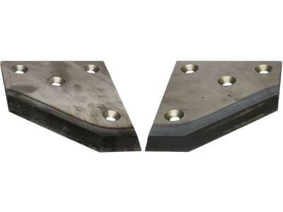 Industriehof® Siloschneidmesser links/rechts, 216 x 159 x 7 mm, für Bressel & Lade