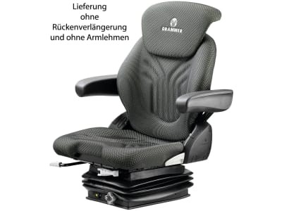 """Grammer Traktorsitz """"Compacto® Basic M"""", mechanisch gefedert, High-Performance-Stoff, anthrazit/grün/silber"""