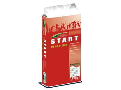 CUXIN DCM START organisch-mineralischer NPK 18+4+3 für Start und Regeneration der Rasen- und Sportflächen 25 kg Sack