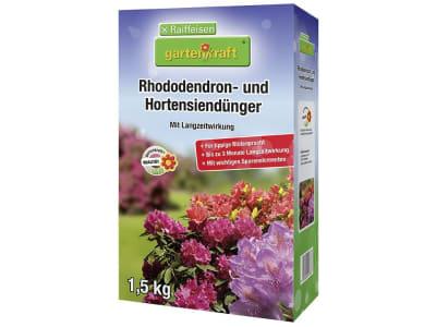 gartenkraft® Hortensien- und Rhododendrondünger NPK 12+8+16 mit Langzeitwirkung, für Moorbeetpflanzen 1,5 kg Schachtel