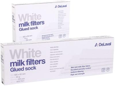 DeLaval Milchfilterschlauch 320; 620 x 60 mm geklebt weiß 200 St.