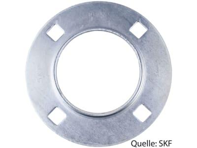 SKF Stahlblechgehäuse rund, 4-Loch, für Y-Lager