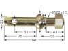 Unterlenkerbolzen A Kat. 1; B Kat. 1 Länge 140 mm, Ø 22 mm, M 22 x 1,5