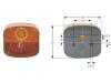 GEKA Lichtscheibe links/rechts, Schluß-, Blink-, Brems-, Kennzeichenlicht, für Heckleuchte BBSK 95 R/L (Best. Nr. 10065118)