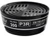 """Ekastu Partikelfilter """"200 P3R D"""" geklemmt, 8 St., für Atemschutzmaske, giftige und hochgiftige Partikel, 422 395"""