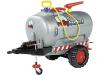 """Rolly Toys® Anhänger """"Tanker"""" silber, 1-achsig, mit Auslaufhahn, Pumpe, Spritze und Stützrad mit Spindelverstellung, 12 277 6"""