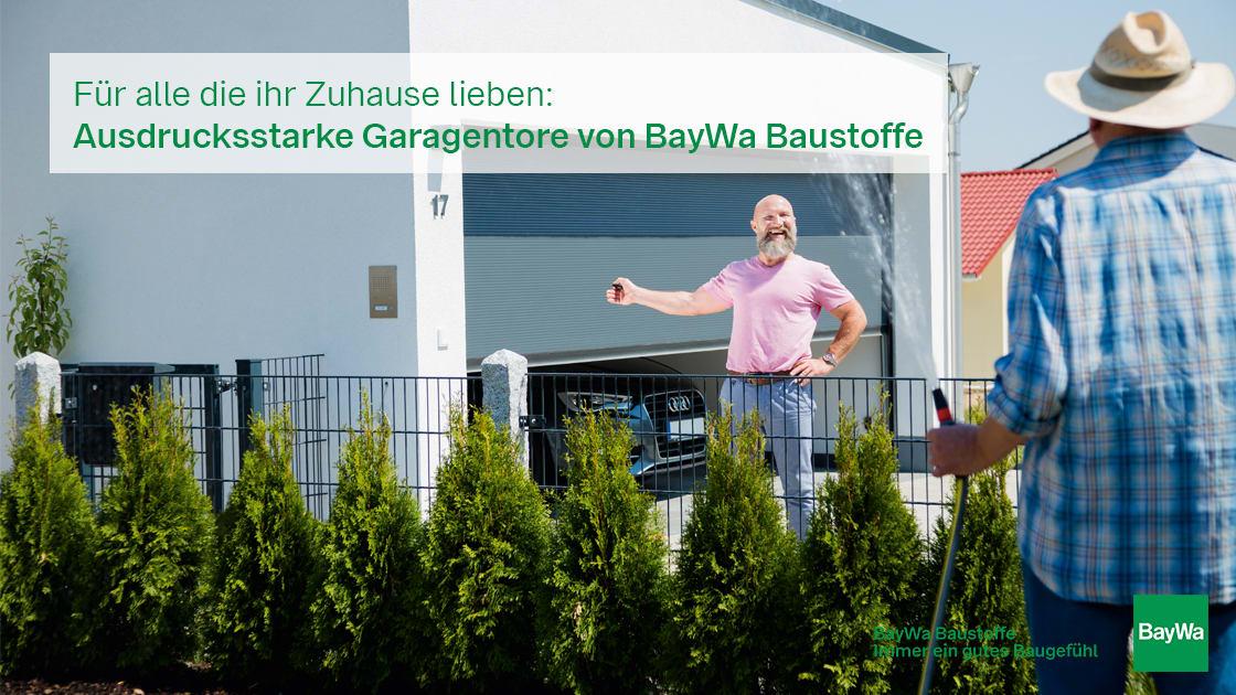 Super Garagentore | BayWa Baustoffe Online-Portal – Die neue Ära des GV23