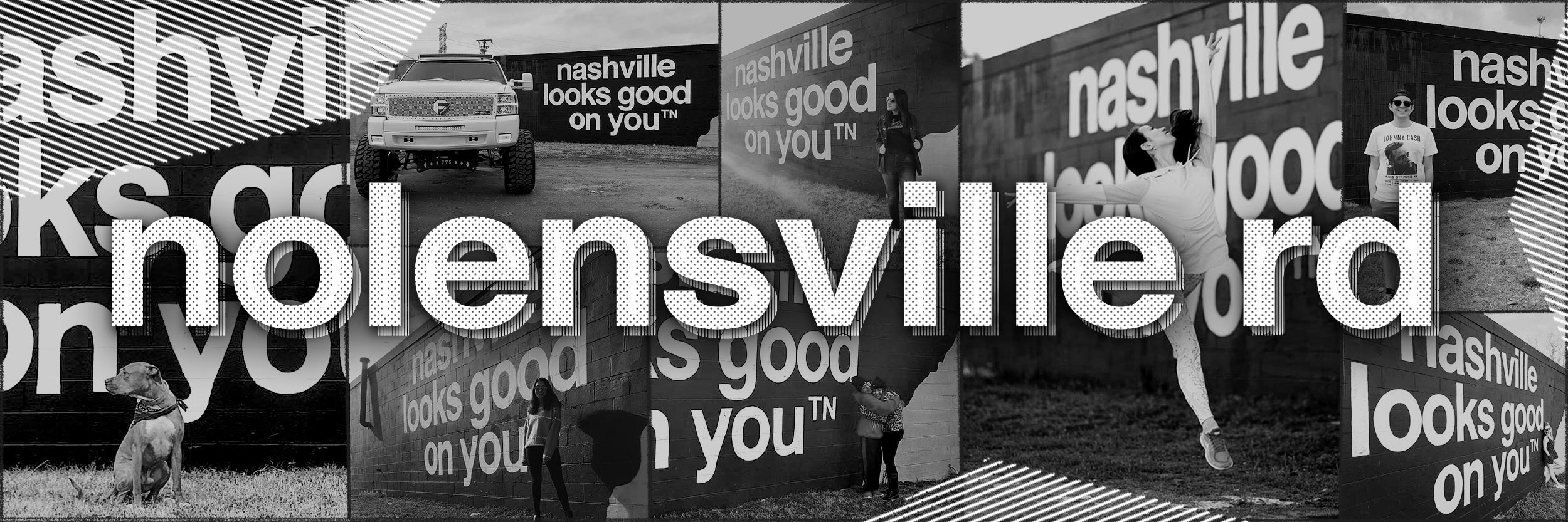 nashville looks good on you mural location nolensville rd nashville murals tennessee