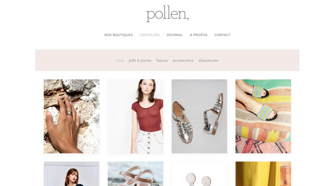 pollenparis-website-screenshot