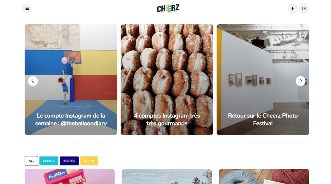 cheerz-website-screenshot