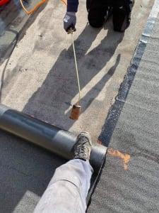 Torch on Felt Flat Roof Cork