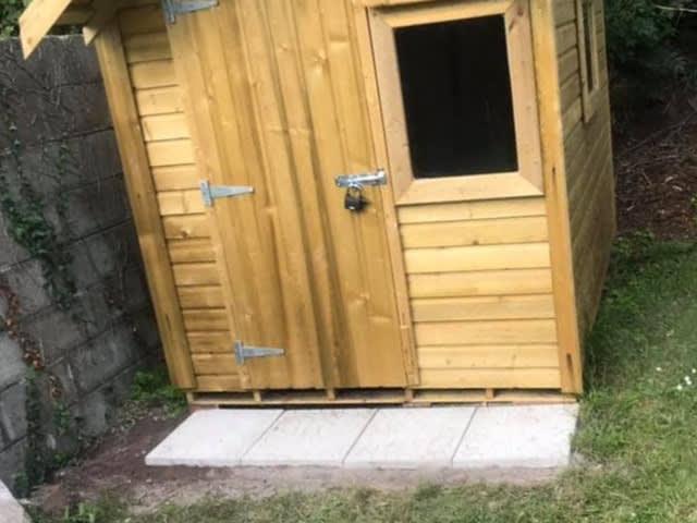 Garden Paving Slabs Cork Sheds Installed