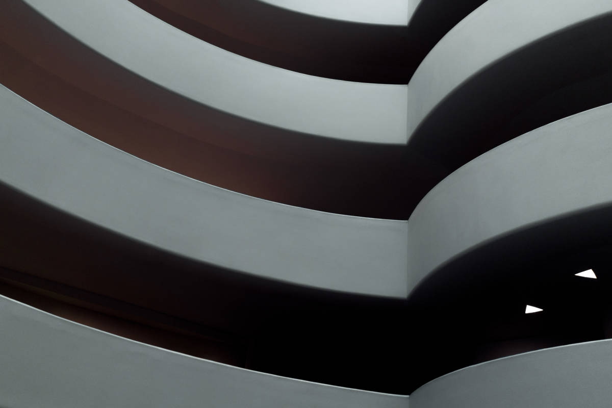 Looking across to the other side in the Guggenheim museum in New York City