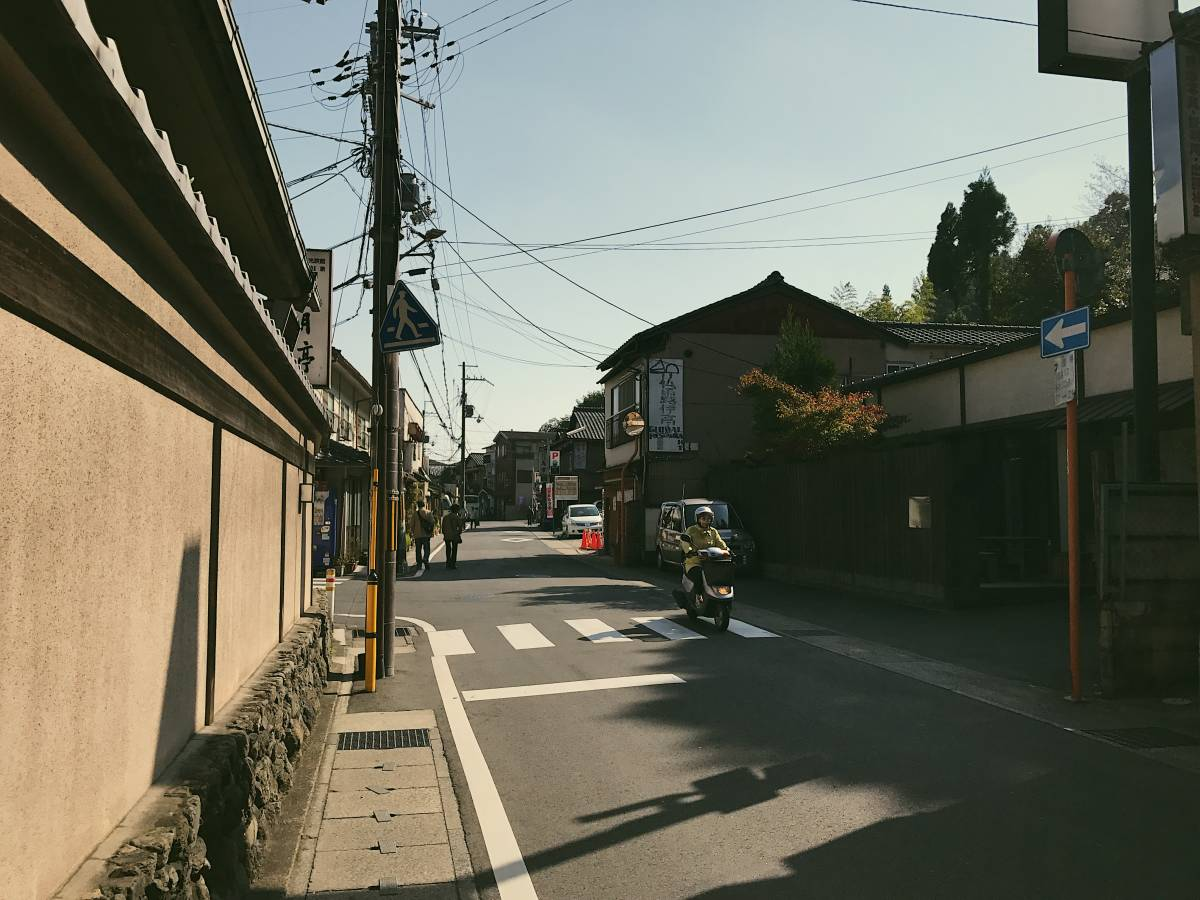 A small street in Kyoto on the way to monkey park.