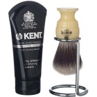 KENT Shaving Brush in holder & Cream  GIFT SET