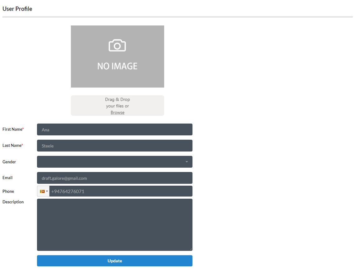 profile form